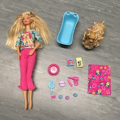 Barbie Veterinarian/Dog Groomer Play Set: doll, dog, and accessories