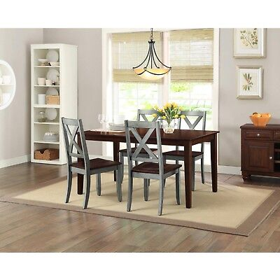 Farmhouse Dining Room Table Set Rustic Rectangle Wood Kitchen Tables And Chairs
