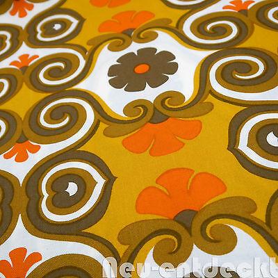 Lounge Stoff 70er Meterware fabric vintage Gardine Vorhang orange retro 70s 1734