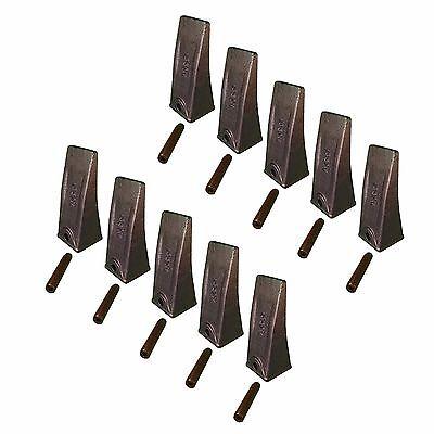 10 Skid Steer Mini-ex Backhoe Bucket Long Dirt Teeth W Roll Pins- X156l P156