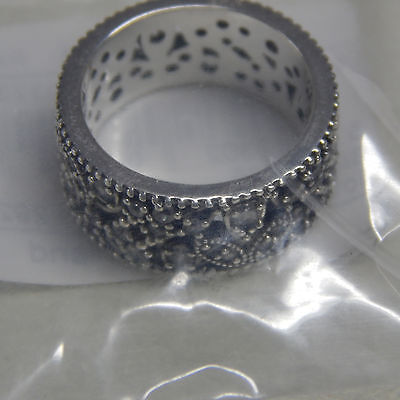 0db4ca866 ... Authentic Pandora Ring Shimmering Leaves Size (7.5) 56 190965CZ Tag &  Box Includ фото ...