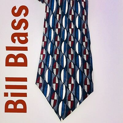 👔Bill Blass *** All Silk Dry Clean ***  Men's Neck Tie Dry Clean Silk Tie