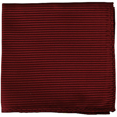 New men's polyester woven striped burgundy hankie pocket square formal wedding