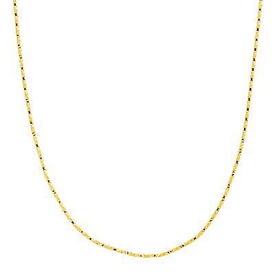 """Twisted Box Chain Necklace in 14K Gold, 20"""" tweedehands  verschepen naar Netherlands"""