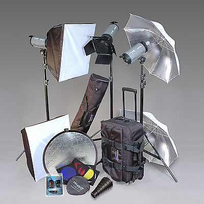 Square Perfect Professional 3 Strobe Studio Flash & Softbox Set Photography Kit on Rummage