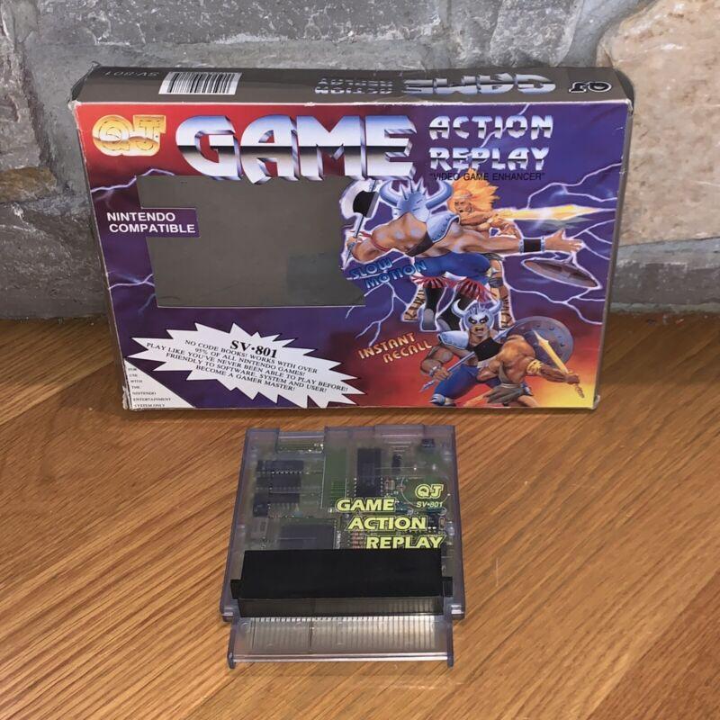 Nintendo NES Game Action Replay QJ SV-801 Save State Rare in Original Box