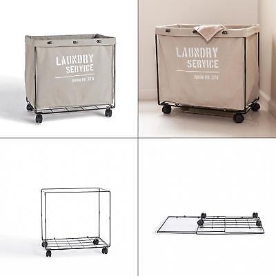 army canvas laundry hamper on wheels | basket storage clothe