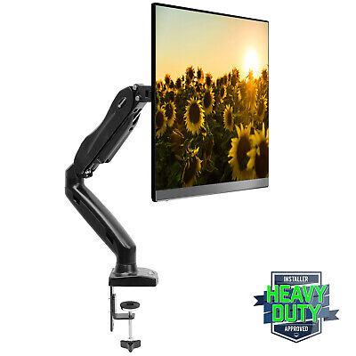 Desk Mount Monitor Arm (Full Motion LCD Monitor Arm Gas Spring Desk Mount for Screens up to 27