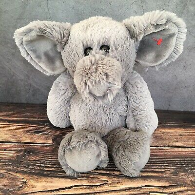 Ella Elephant Ty Attic Treasures Grey Cuddly Plush Stuffed Animal 13