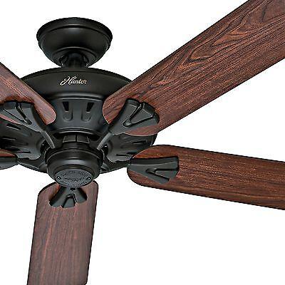 Hunter 60  New Bronze Energy Star Ceiling Fan With 5 Dark Cherry Oak Blades
