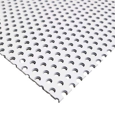 White Painted Aluminum Perforated Sheet 0.040 X 12 X 12 0.100 Hole