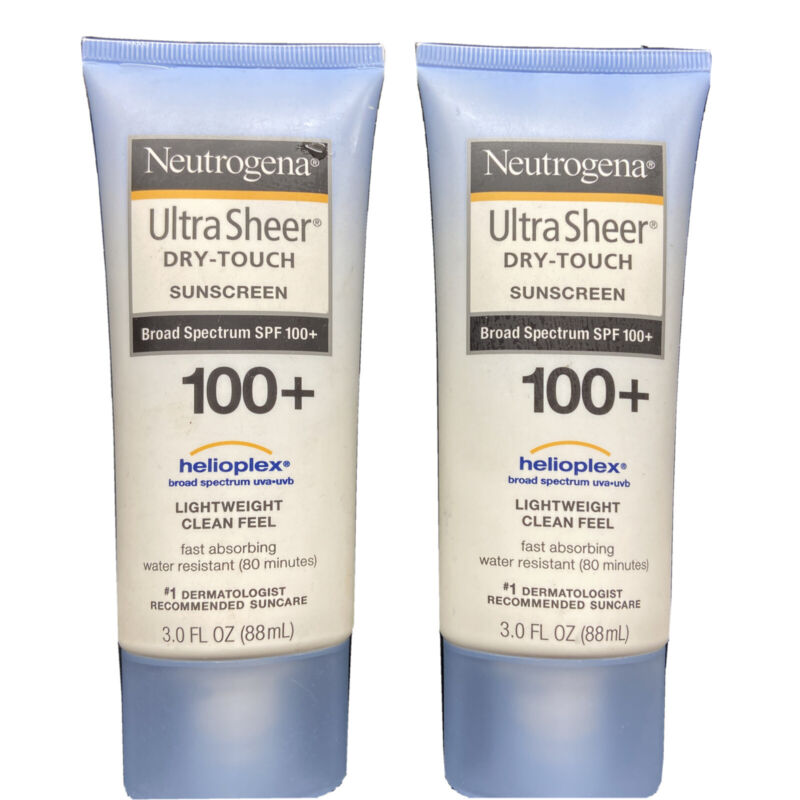 2 Neutrogena  Dry-Touch Sunscreen Broad Spectrum SPF 100+ Exp 2022