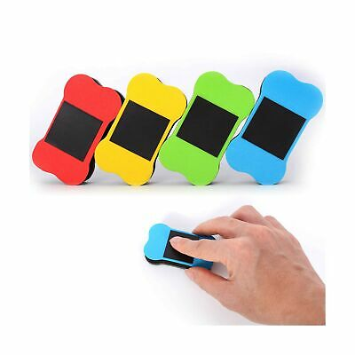4 Pack Small Magnetic Dry Erasers For Dry Erase Pens And Markers Ideal For Kids