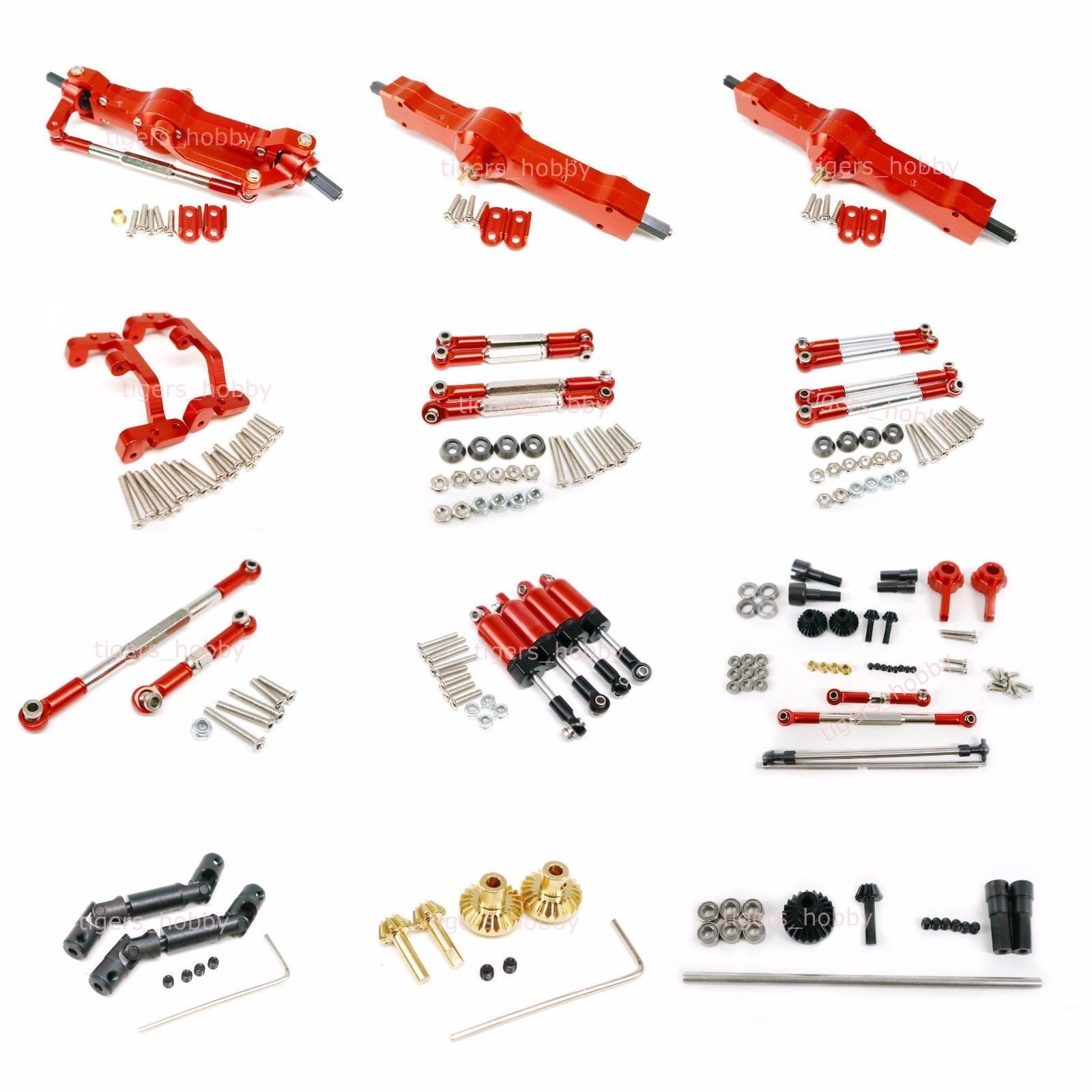 Losi 5ive-T Red Atop RC Aluminum Rear Upper Turnbuckle AT-5T013  for KMX2