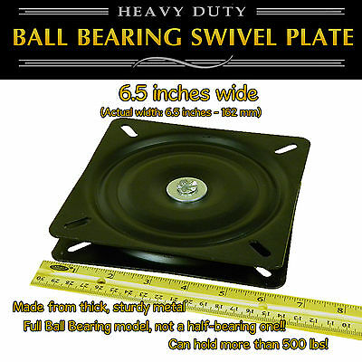 1pc - 6.5 Inch 162mm Full Ball Bearing Flat Swivel Plate Turntable