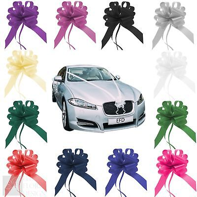 "Wedding Car Kit 7 Meters Poly Ribbon 50mm and 2"" Pull Bows - 21 colours"