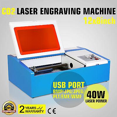40W CO2 Laser Graviermaschine Gravurmaschine Carving Cutter Engraving USB