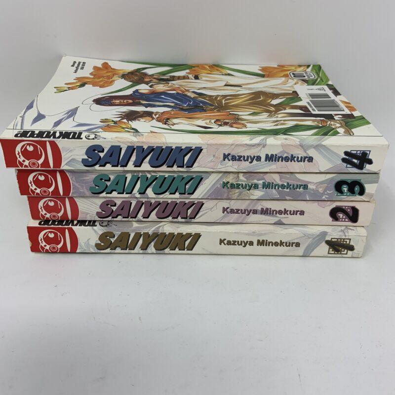 Saiyuki English MANGA Books 1 2 3 4 Tokyopop Kazuya Minekura Graphic Novels