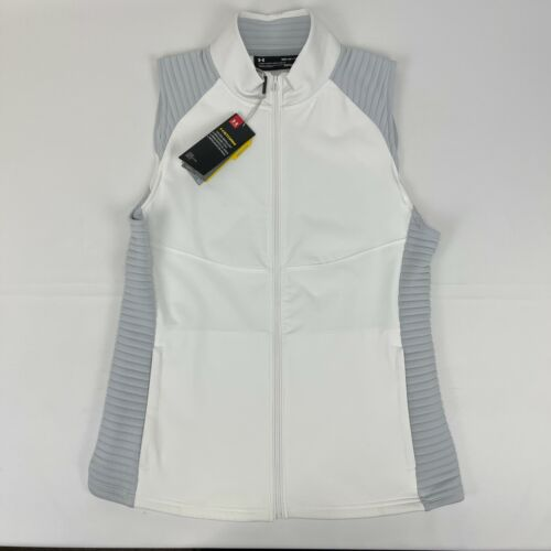Under Armour Womens Daytona Storm ColdGear Golf White Grey Medium Vest Jacket