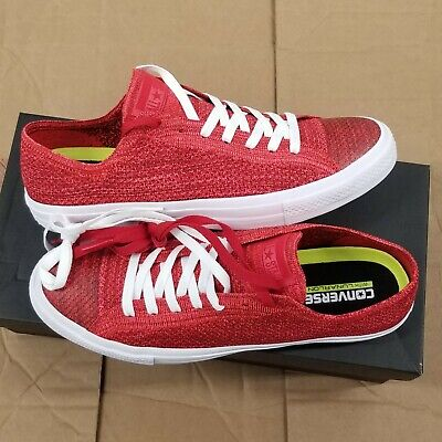 Chuck Taylor Red Top (Converse Chuck Taylor All Star Flyknit Lunarlon Casino Team Red Low Top )