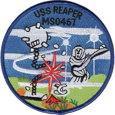 US NAVY USS Reaper MSO-467Agile-class minesweeper military PATCH