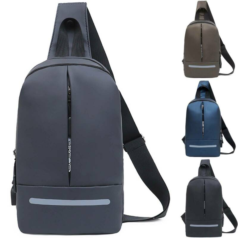 Mens Sling Crossboday Nylon Chest Bag Messenger Travel Water