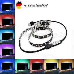 TV RGB LED USB 2 Meter Fernseher Backlight Hintergrund Beleuchtung Samsung Sony