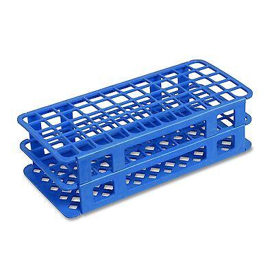 16 Mm Plastic Test Tube Rack 60 Holes Blue