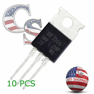 10 Pcs 10x Irf3205 Ir Mosfet N-channel 55v110a To-220 - Usa Ship
