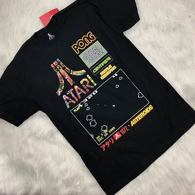 Men's Atari Video Game Graphic T-Shirt Asteroids Pong Centipede Crystal Castle