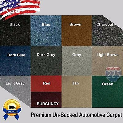 All Colors Upholstery Durable Un Backed Automotive Carpet 40 Wide   By Yard LOT
