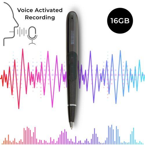 SNOWFIER Digital Voice Recorder Pen - 16gb Storage - MP3 Playback Pen - Spy Pen