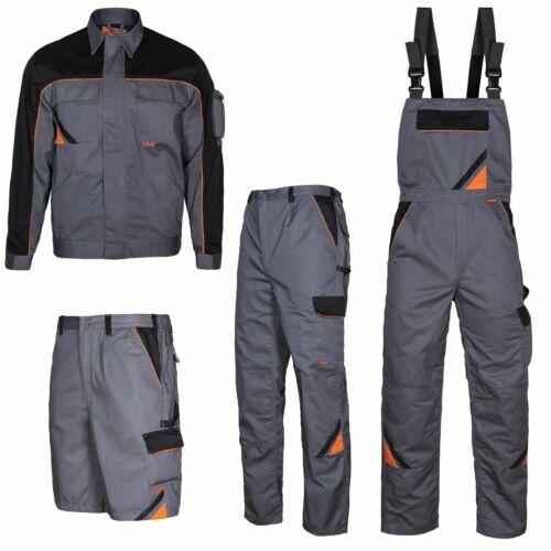 Arbeitshose Latzhose Arbeitsjacke Arbeitsshorts Hose Berufskleidung grau G.44-64