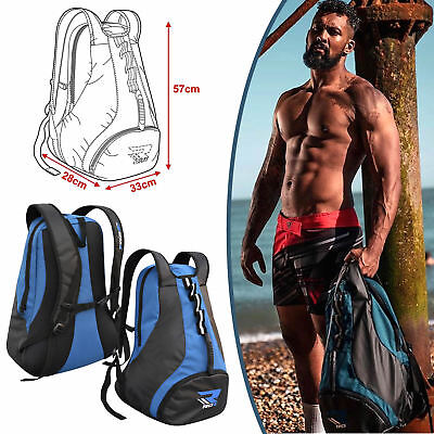 RDX Kit Bag Gym Sports Hiking Rucksack Holdall Backpack Duffle Training MMA Blue ()