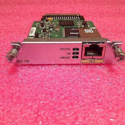 Cisco HWIC-1FE Fast Ethernet Layer 3 WAN Interface Card - 1 Year (1 Wan Interface)