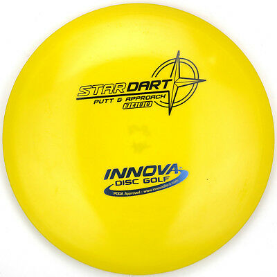 New Yellow Star Dart Stable Putter 168G Innova Disc Golf Black Blue Foil Stamp
