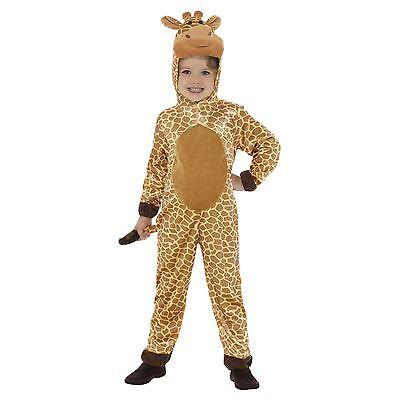 Kinder Giraffe braun mit Kapuzenoverall Plüschspielzeug Kopf Heck Maskenkostüm