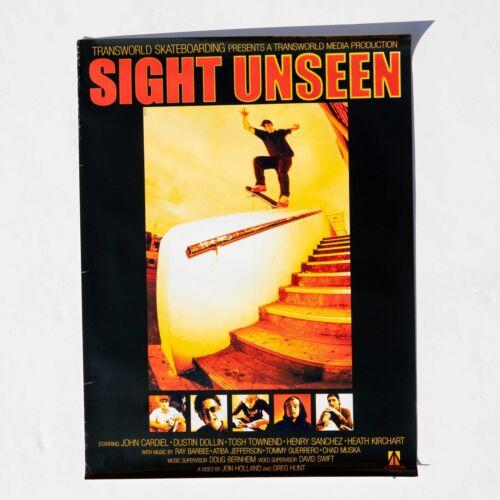 Rare Transworld Skateboarding John Cardiel Sight Unseen Video Poster 18x24 2001