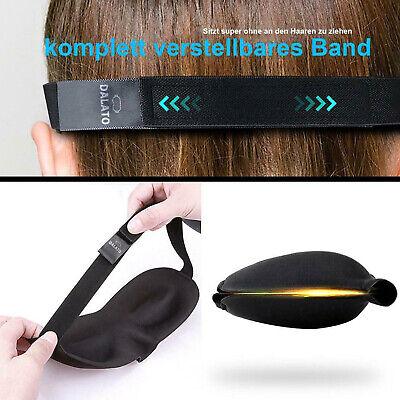 PREMIUM 3D Schlafmaske Schlafbrille Augenmaske weiche Augenbinde + Ohrstöpsel ()