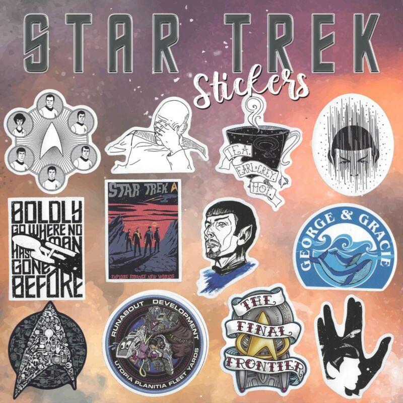 STAR TREK 12 Stickers (B) FINAL FRONTIER~ Tea. Early Grey. Hot ~ GEORGE & GRACIE