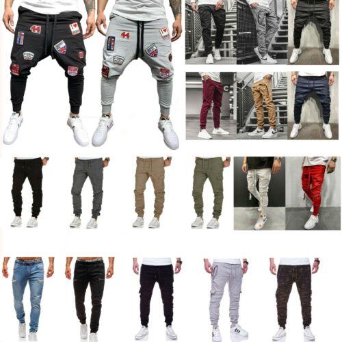 Men Casual Trousers Cargo Combat Active Sport Trousers Jogger Pants Sweatpants