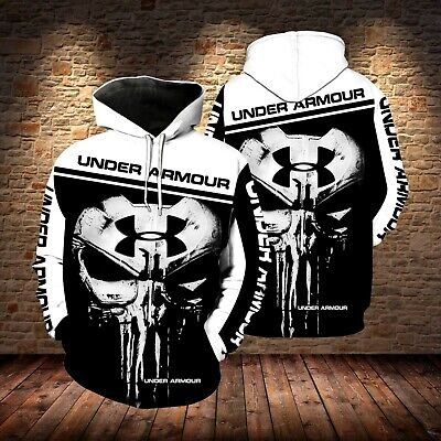 The Punisher Woman (The Punisher Under Armour Skull New Full Over Print 3d Black White hoodie)