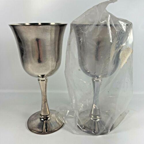 Set Of 2 Vintage Salem Silver Plated Wine Goblets Chalice Flute Made In Portugal