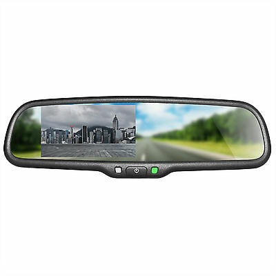 """OEM Rear View Mirror with 4.3"""" Auto Adjusting Brightness LCD for Backup Camera"""