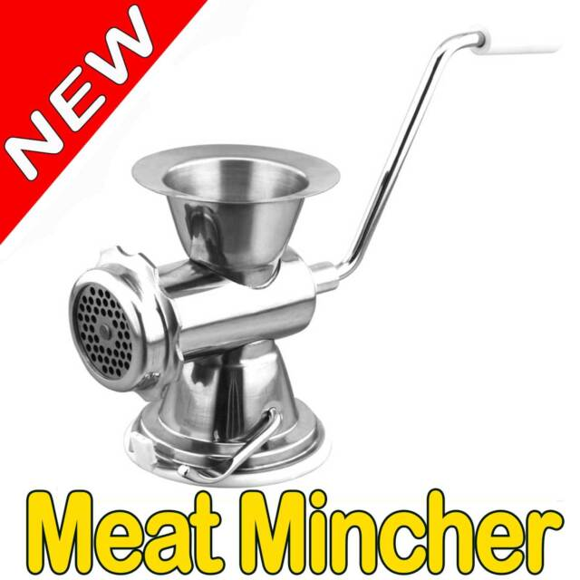 1 x Stainless Steel Meat Mincer Mill Grinder Home Made Sausages