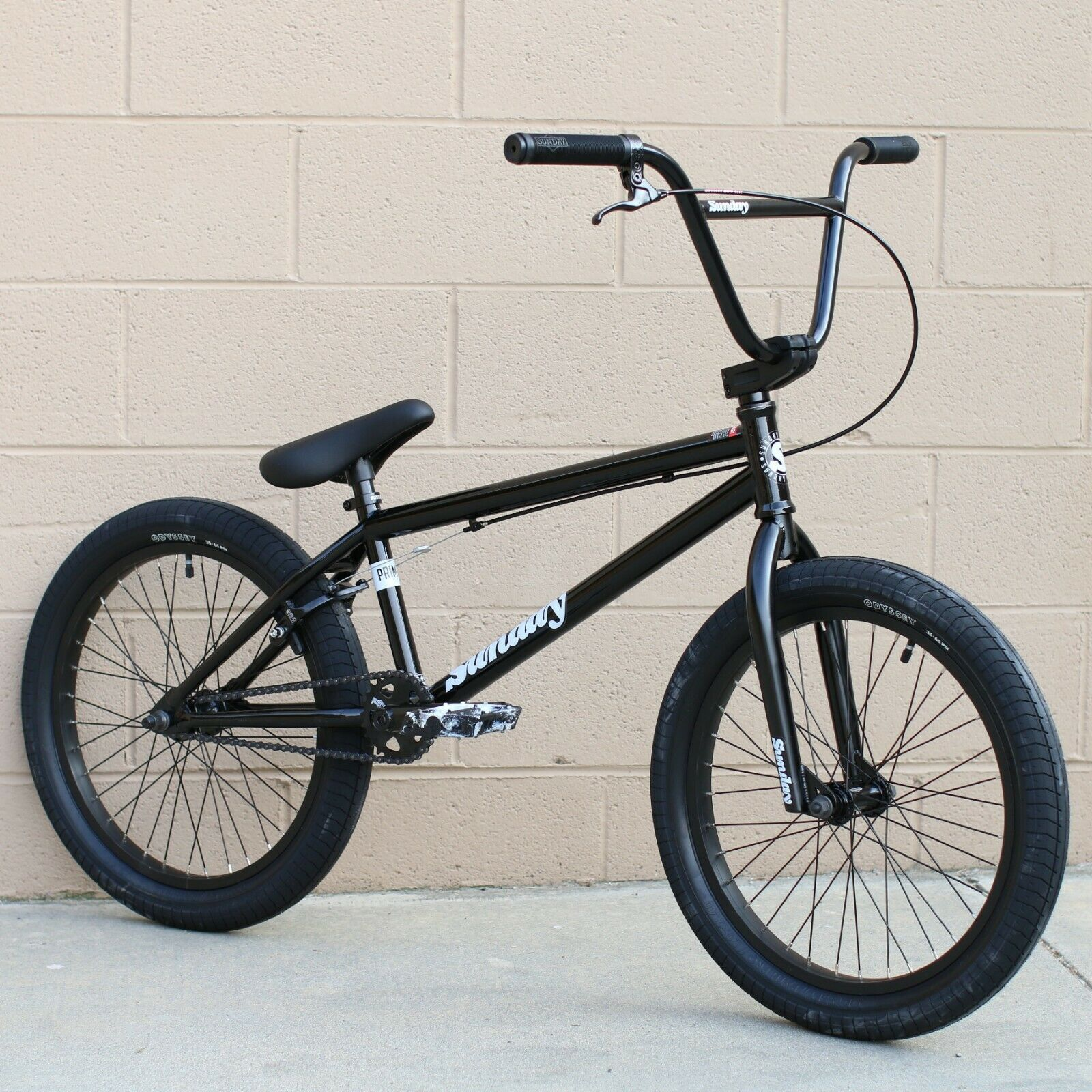 "SUNDAY BIKE BMX PRIMER 20"" BICYCLE BLACK/WHITE FIT CULT PRIM"