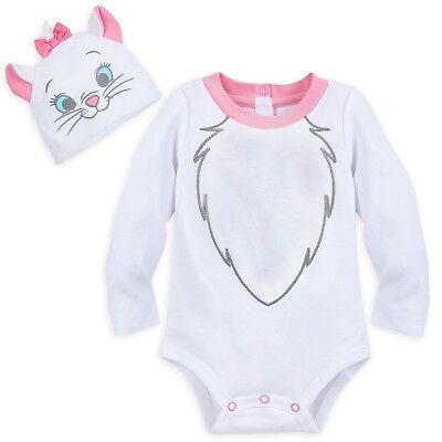 Disney Store Marie Baby Bodysuit Aristocats Costume Halloween Dress Up Kitty Cat