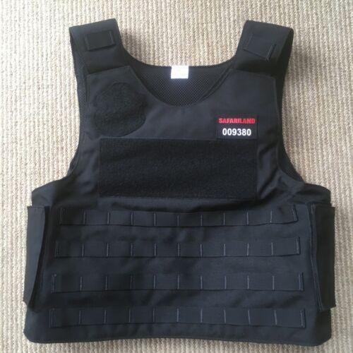 Safariland Body Armor Vest/Carrier. Black Large 42R. Molle Cordura Nylon 10x12