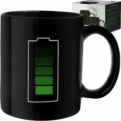 Coffee Magic Mug Color Changing Heat Sensitive Fun Battery Mug Charging Design  - Fun Coffee Mugs