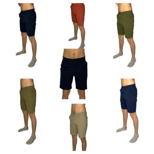Mens 5 Pocket Stretch Chino Shorts Casual Flat Front Slim Fit Spandex Half Pant